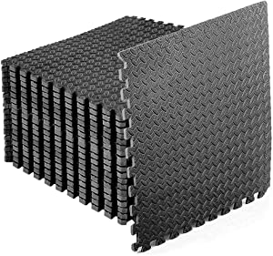 StillCool Puzzle Exercise Floor Mat, EVA Interlocking Foam Tiles Exercise Equipment Mat with Border - for Gyms, Yoga, Outdoor Workouts, Kids