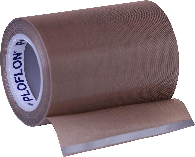 Teflonband Gesamtst/ärke 0,145mm PLOFLON PTFE Teflon Klebeband PTFE Band L/änge 10m Teflonklebeband antihaftende Oberfl/äche Hitzebest/ändigkeit bis 260 Grad Celsius. Breite 150mm