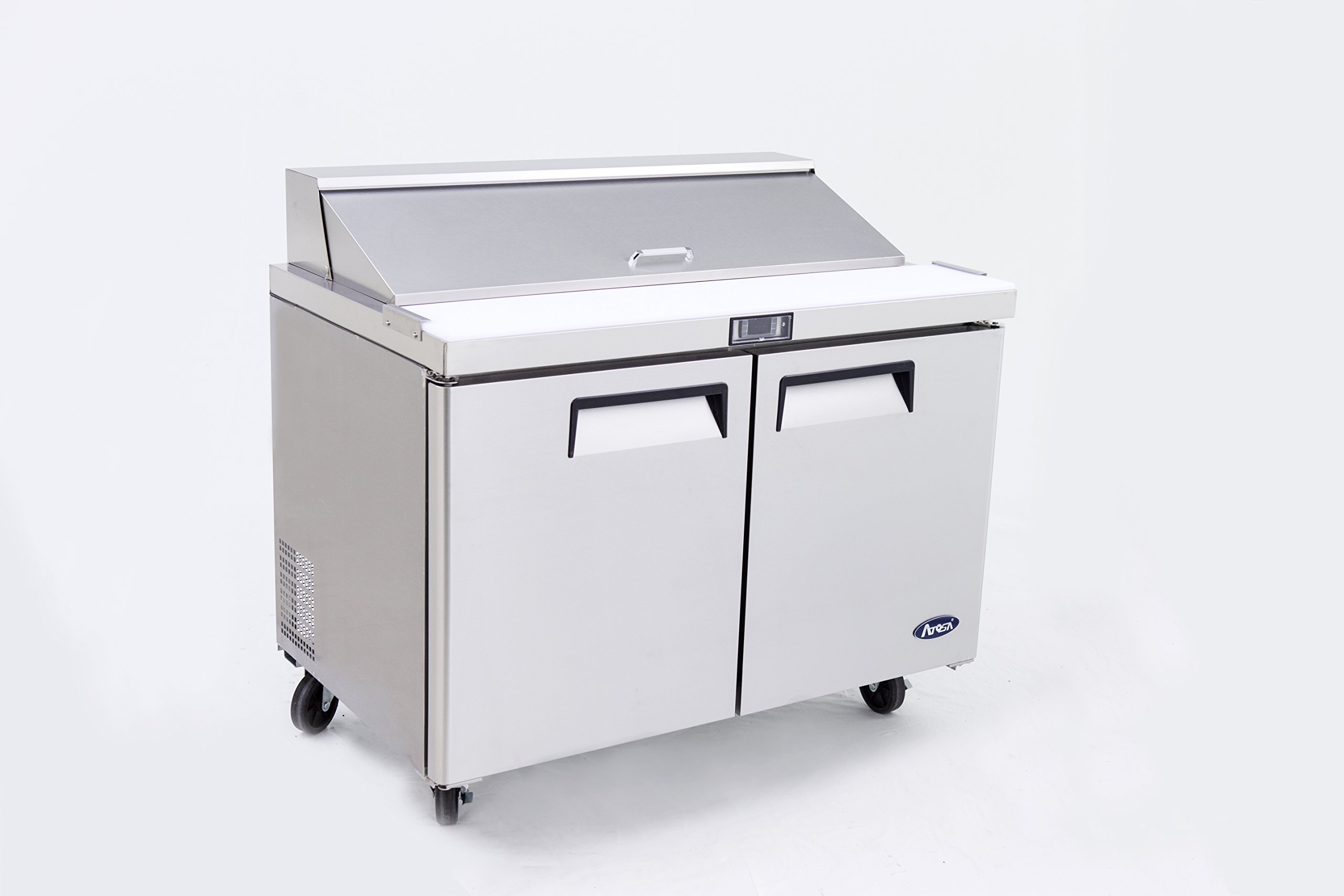 Atosa Usa MSF8302 Stainless Steel Sandwich Prep Table 48'' 2-Door Refrigerator by Atosa