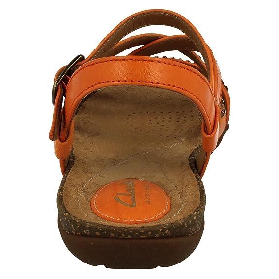 pelle sandali Peace EU Autumn e borse 38 Arancione Orange Clarks it sintetica in Amazon arancioni Scarpe Sq1IWEFx
