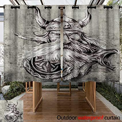 Amazon.com: Onefzc - Panel de cortina para patio o surf con ...