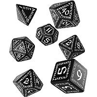 Q WORKSHOP Runic Black & White RPG Dice