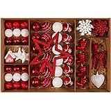 Volador クリスマス オーナメント クリスマスツリー 飾り 北欧風 50p (シルバー&ホワイト80セット)