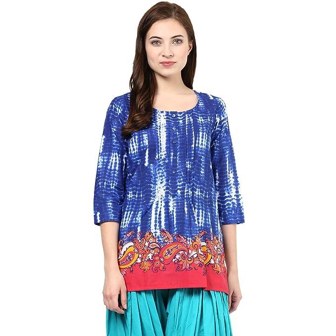 ed9e25880a5 Akkriti by Pantaloons Women s A-Line Kurta (110009085 Blue XX-Large)
