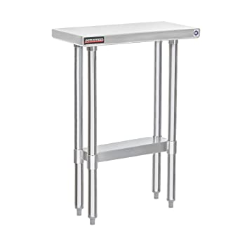 Amazon.com: DuraSteel - Mesa de trabajo de acero inoxidable ...