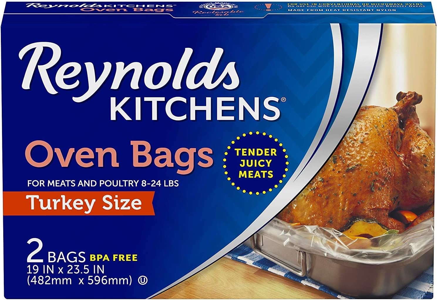 Reynolds Kitchens Oven Cooking Bags, Turkey Size, 2-Count (Pack of 24)
