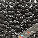 """GANSSIA 0.35"""" (9mm) Sewing Flatback Resin Buttons Color Black Pack of 500 Pcs"""