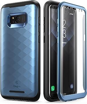 Clayco - Carcasa para Samsung Galaxy S8 (versión actualizada), Color Azul: Amazon.es: Electrónica