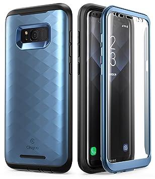 Clayco Carcasa Galaxy S8, [Hera Series] Funda Resistente con Protector de Pantalla Integrado para Samsung Galaxy S8 (Version 2017) (Azul)