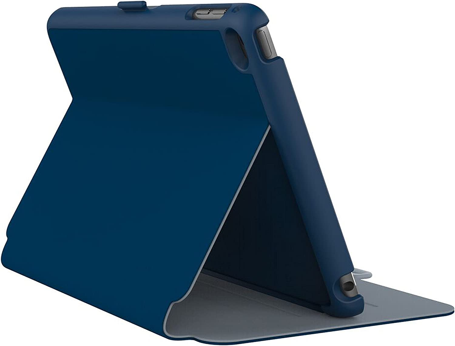 Speck Products StyleFolio Case and Stand for iPad Mini 4, Deep Sea Blue/Nickel Grey (71805-B901)