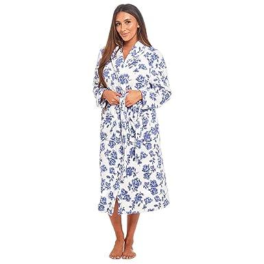 MyShoeStore Ladies Coral Polar Fleece Dressing Gown Womens Shawl Neck  Bathrobe Warm Wrap Lounge Wear Nightwear Sleepwear Housecoat Bath Robe  Nightgown with ... 0a3f0bd5a