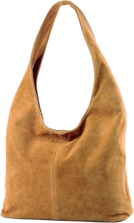 modamoda de - italiana de cuero bolso de gamuza T150, Color:camello