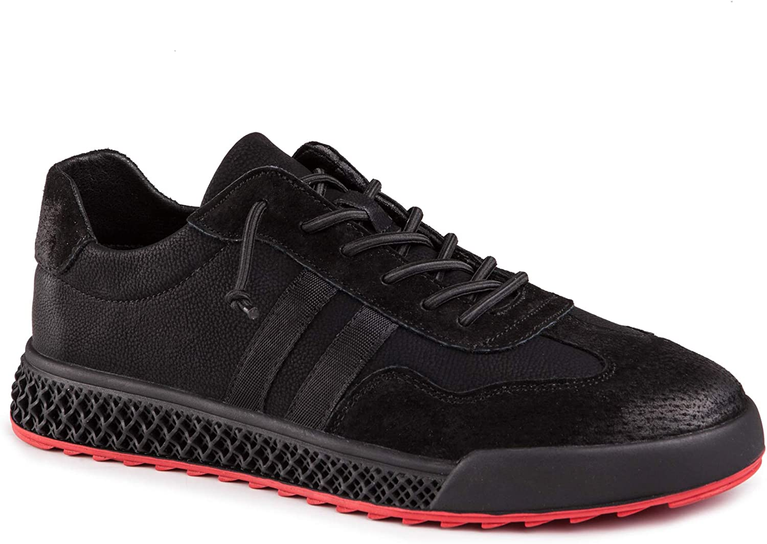 Black Comfy Casual Lace Up Shoes Wear