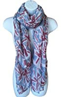 Union Jack Scarf, Denim Blue Colour, Mini UK British Flags Fashion Womens Souvenir Shawl