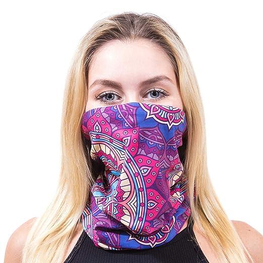 GloFX Seamless Face Mask - Muti-purpose Reversible Bandana Headband Rave  Festival Mask for Dust e3b7505b207