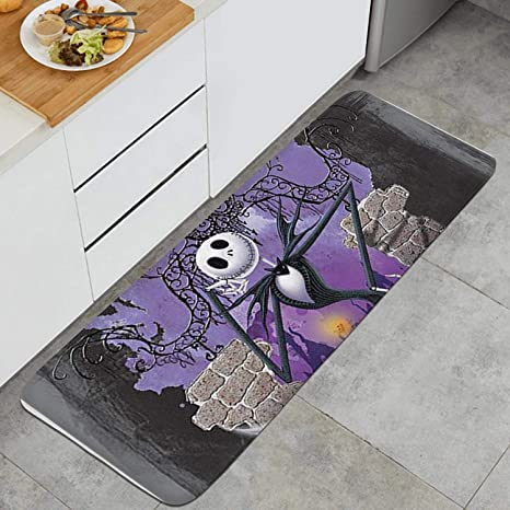 Floor Mat Nightmare Before Christmas Non-Slip Rubber Indoor Outdoor Doormat