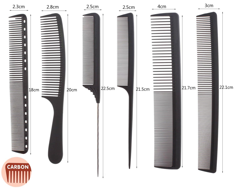 Amazon.com  6pcs Professional Salon Hair Cutting Comb Set