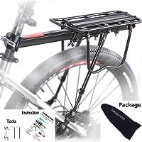 MAIKEHIGH Ajustable Carrier Trasera para Bicicleta portaequipajes Bicicleta