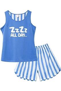 Jashe Girls Tank Top and Shorts Cotton Pajama Set Teens Cute Sleepwear Big  Kids Size 12 9d32dcb0d