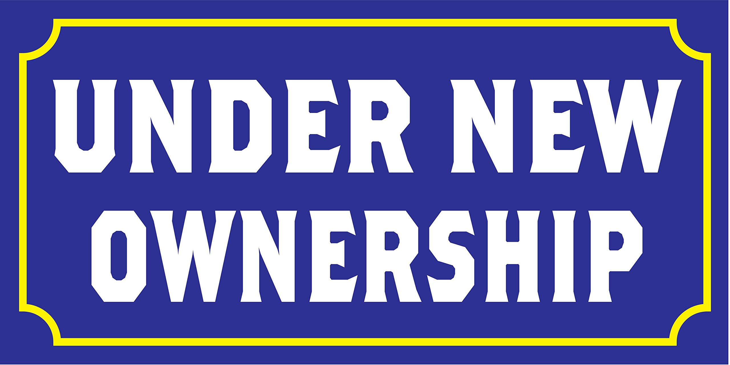 Pre-Printed - Under New Ownership Banner - Solid - Blue (10' x 5') by Reliable Banner Sign Supply & Printing