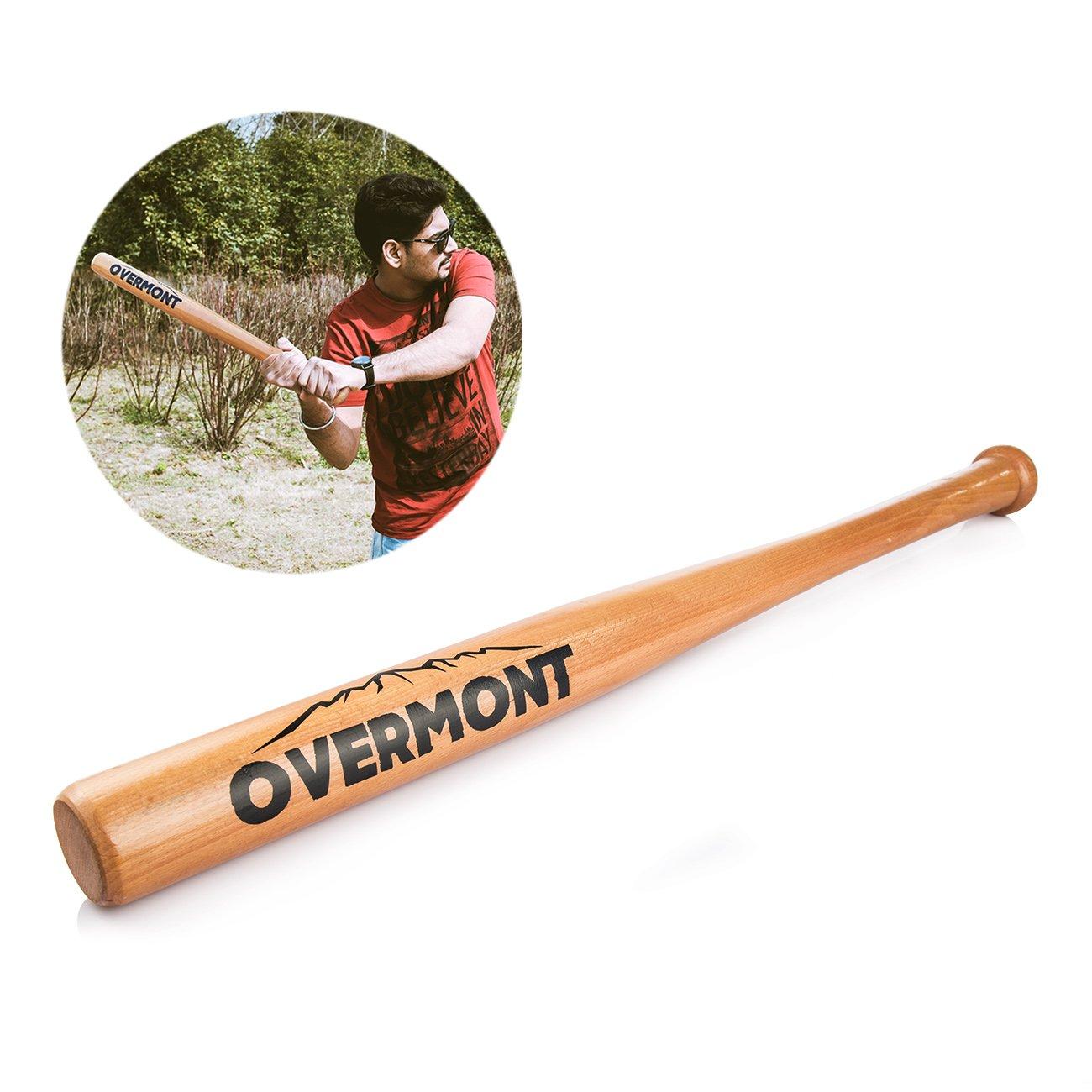 Overmont Bate de béisbol softball de madera , tamaño 25/29/33 pulgadas OM-WBat-33