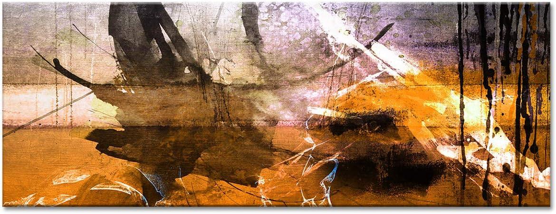 Tableau Deco Murale Salon,/Tableau Toile Peinture Art Abstrait T/ÂCHES DE Couleurs 80x30 cm Orange Tableau Deco Home D/écoration Murale Tableau DECLINA