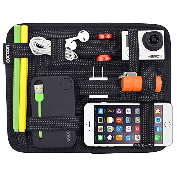 istore Electronics Cosmetics Tool Organizer Bag for ipad iPhone Tablet Accessories Pouch Non Slip Elastic Crossing Straps