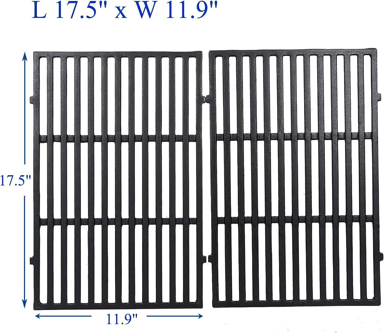 "GGC 17.5"" Grill Grid Grates for Weber 7638 Spirit E/S 310, E/S 320, E/S 330 Spirit 700 Genesis Silver B/C Gold B/C 1000-3500 Gas Grill, Set of 2, Cast Iron Grates(17.5"" x 11.9"" x 0.5"")"