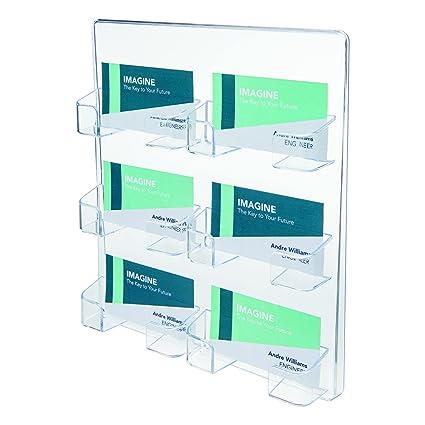 Amazon deflect o 70601 6 pocket clear plastic wall mount deflect o 70601 6 pocket clear plastic wall mount business card holder 8 colourmoves