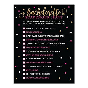 andaz press black white hot pink gold glittering bachelorette party bridal shower collection