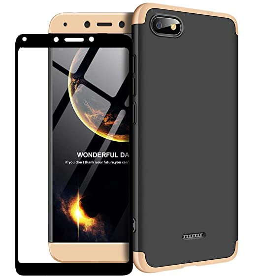 1stfeel Funda Xiaomi Redmi 6A 360°Caja Caso + Vidrio Templado, 360 ...
