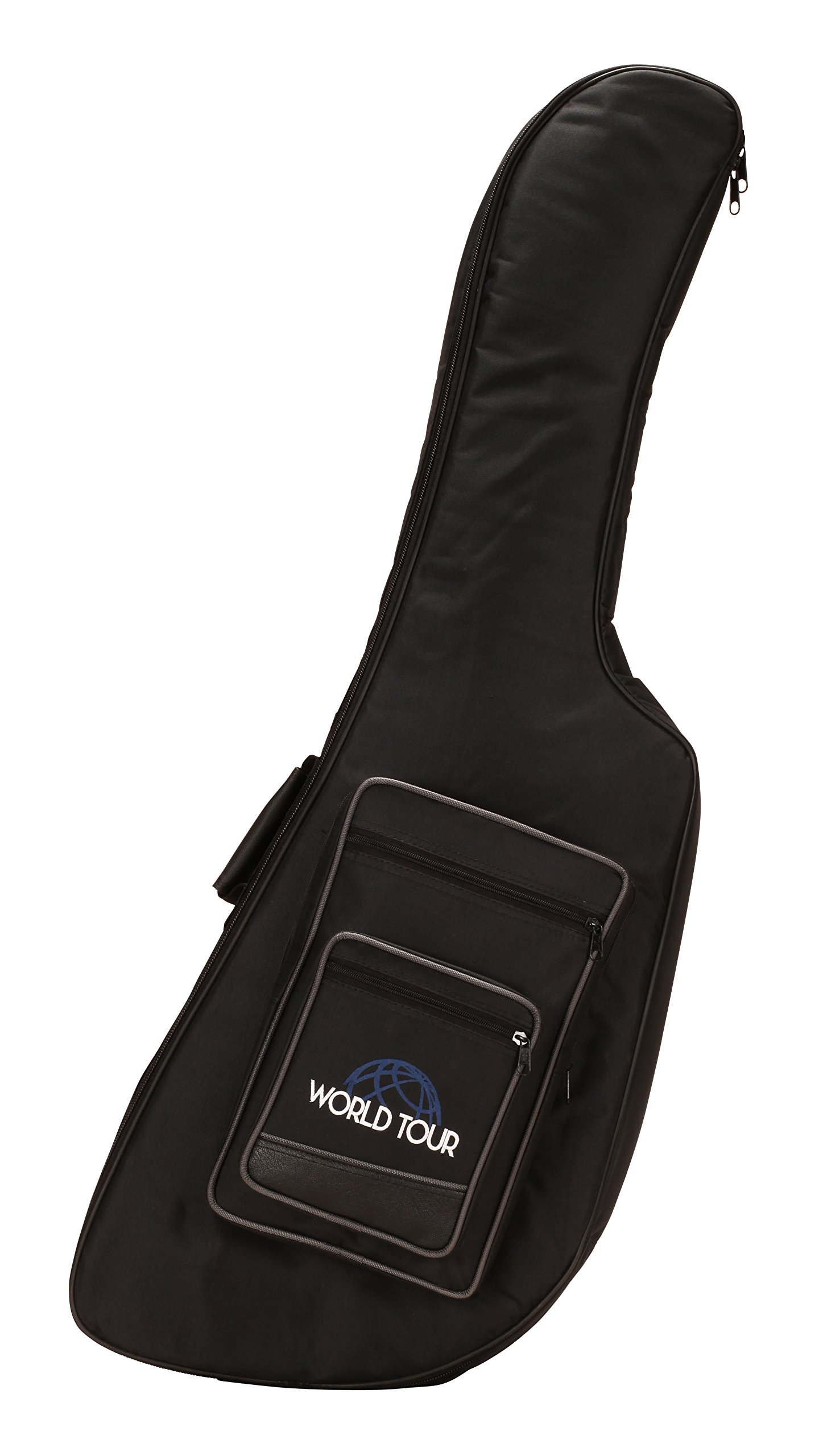 World Tour EXPG20DN Deluxe 20mm Guitar Gig Bag for Gibson and Epiphone Explorer Guitars
