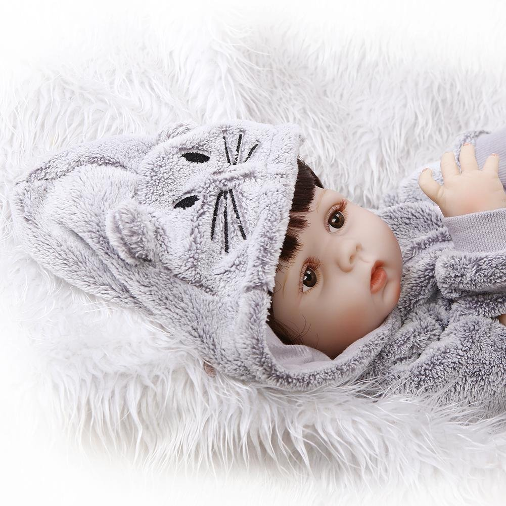 chinatera Kids Toys NPK Artificial Soft Silicone Reborn Baby Dolls Simulation Lifelike Infants Doll by chinatera (Image #6)