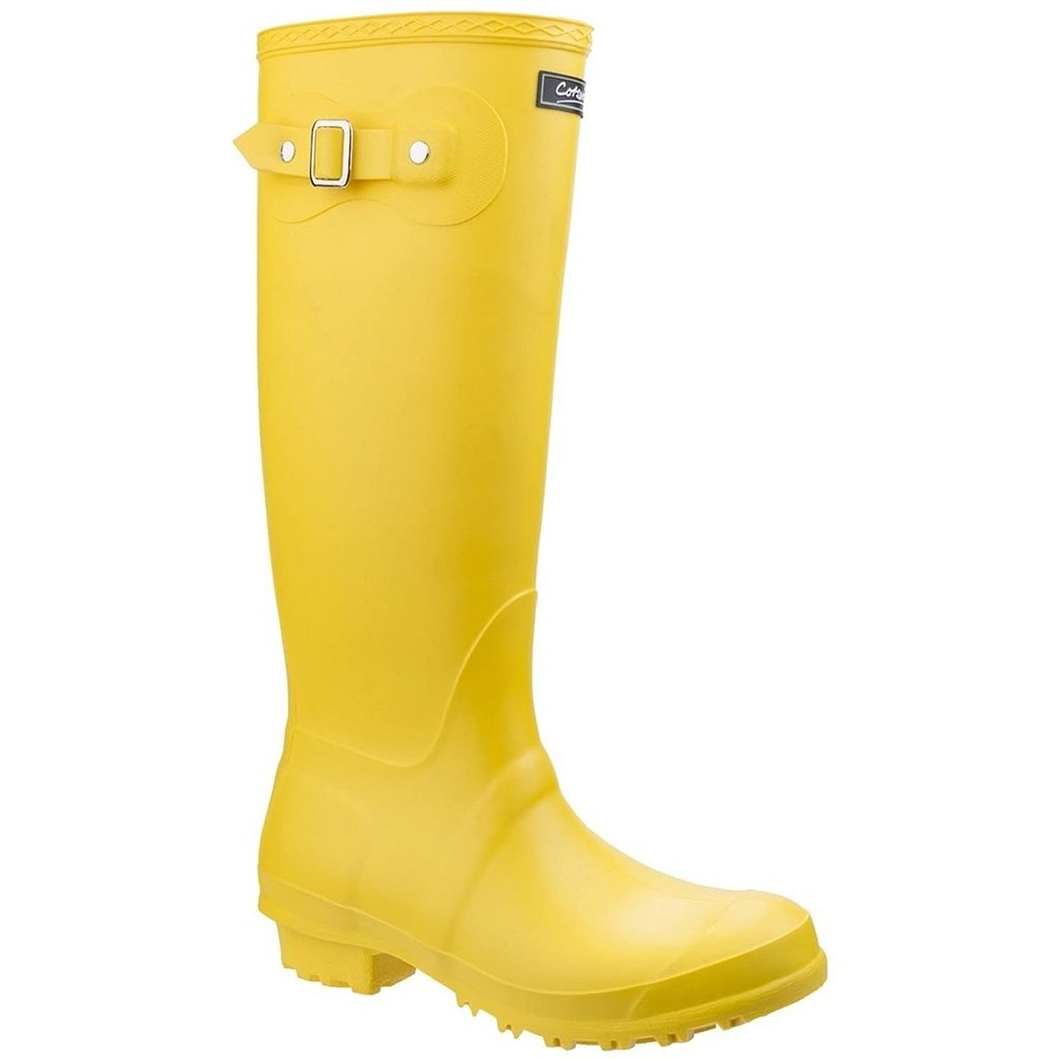 Cotswold Sandringham Buckle-Up Womens Wellington Boots B07C45978P 5 M US|Yellow