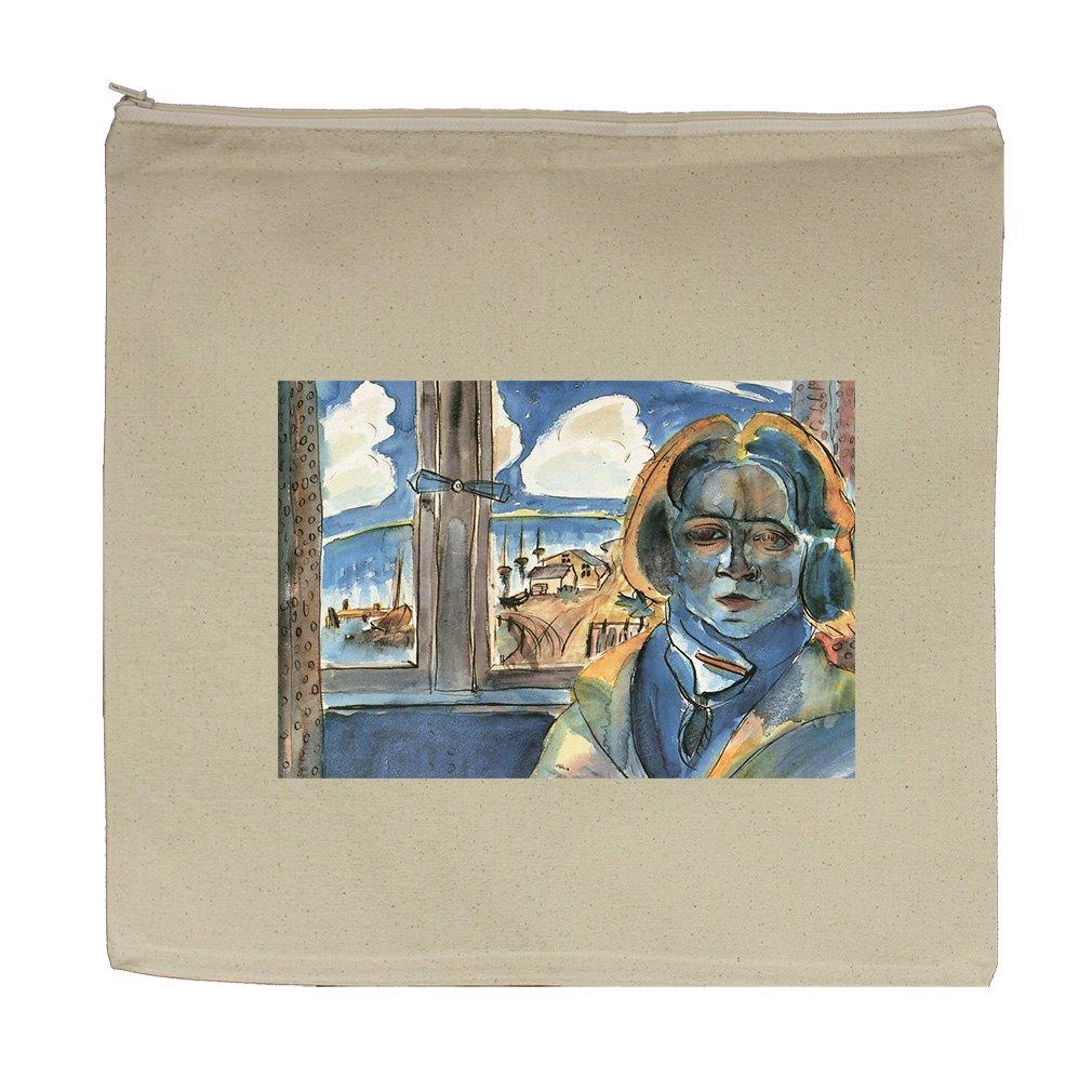 Girl At Window Sonia (Walter Gramatte) Canvas Zipper Tote Bag Makeup Bag