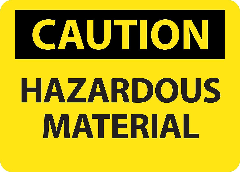 0.04 Aluminum 10 x 14 National Marker C676AB Hazardous Material Caution Sign