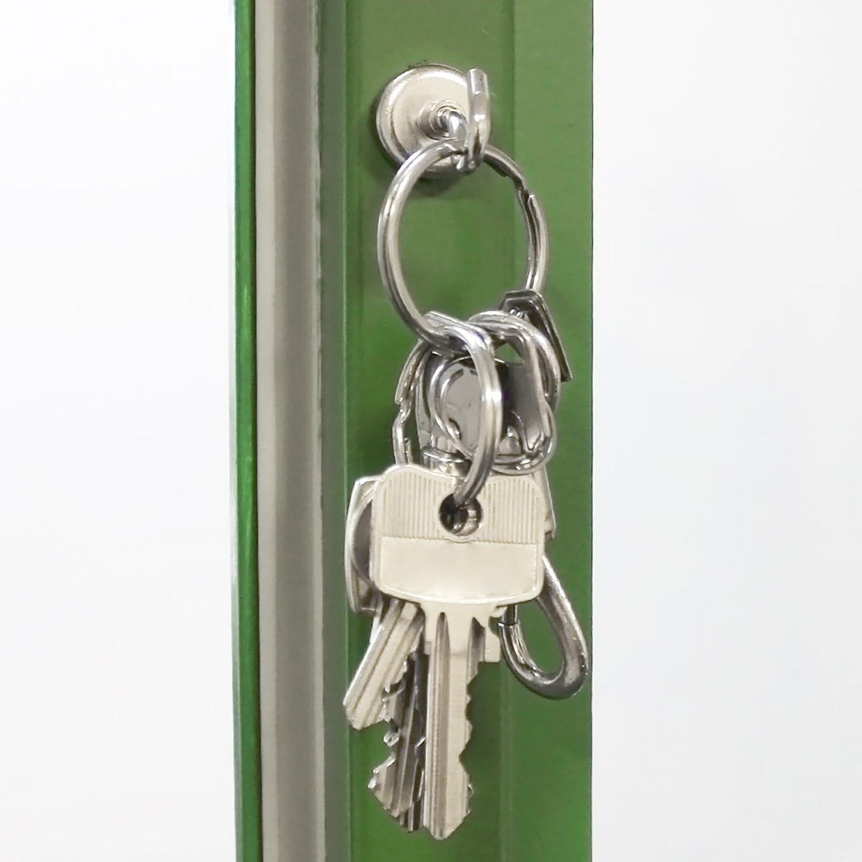 Badezimmer 06 St/ück starker Werkstattmagnet mit Haken f/ür K/üche Garage oder B/üro com-four/® 6X Magnethaken Neodym 20 x 40 mm