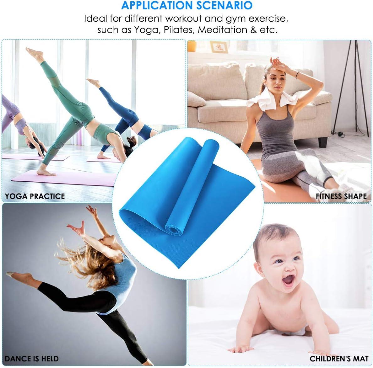 Borlai Tapis de yoga r/éutilisable en EVA antid/érapant antid/érapant Tapis de fitness