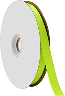 "product image for Offray Berwick 5/8"" Single Face Satin Ribbon, New Chartreuse Green, 100 Yds"