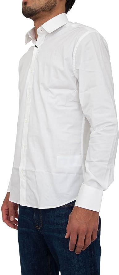 Camisa manga larga GUESS by Marciano Hombre 71H433 4170ZGMA009 Blanco - 45: Amazon.es: Ropa y accesorios