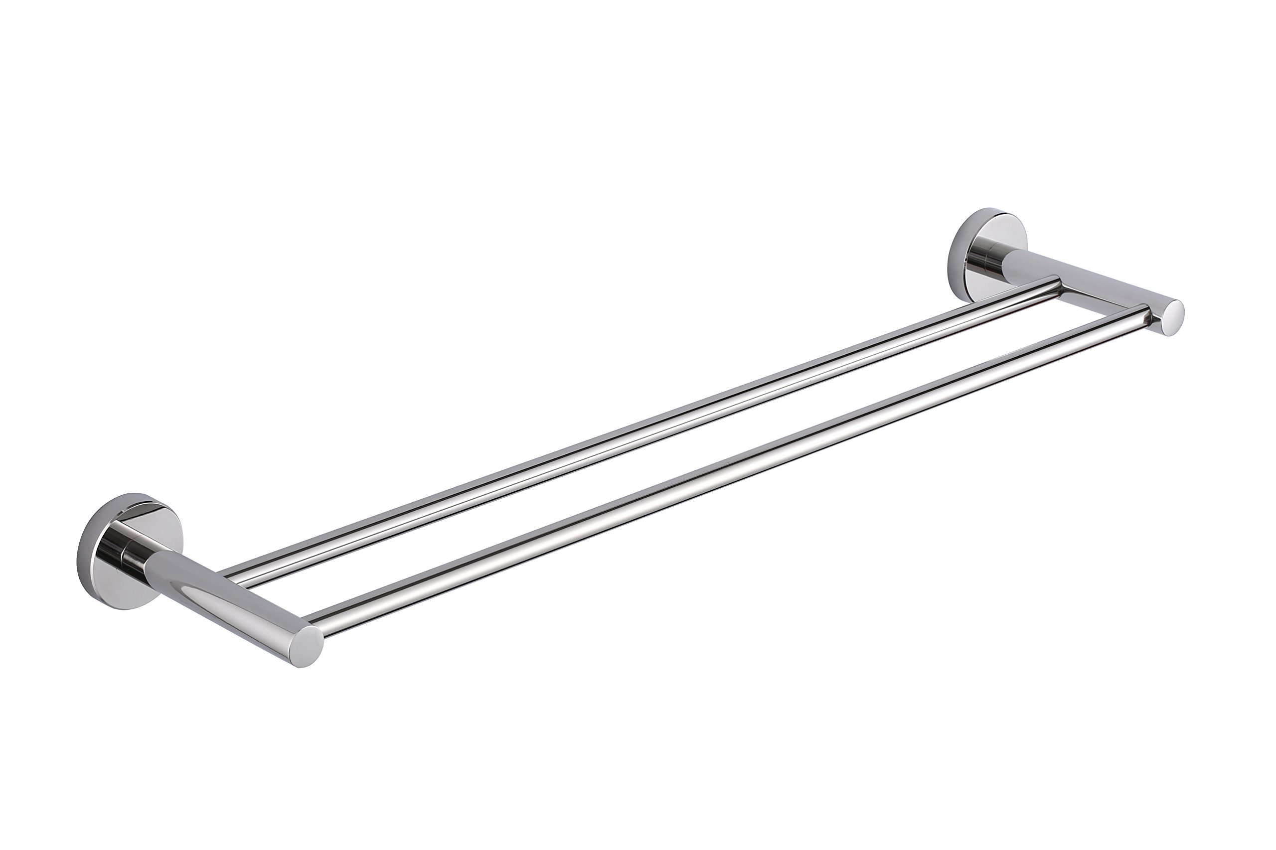 KTY 24-Inch Double Towel Bar Bathroom Shower Organization Bath Dual Towel Hanger Holder Polished SUS 304 Stainless Steel Finish