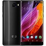 Elephone S8 4G Smartphone Débloqué Portable (6 pouces Bezel-less 2560 x 1440 2K Écran - 4 GO RAM+64 GO ROM Android 7.1 Helio X25 Deca Core 2.5GHz - 21MP+8MP Dual Caméras - 4000mAh Super batterie - Double SIM - Empreinte digitale) - Noir