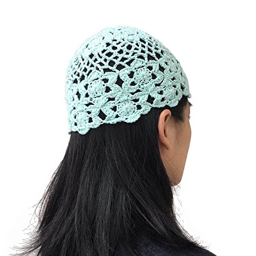 3e7d835340d MARZE Handmade Crochet Hollow Out Knitted Hats for Women Girls Flower Knitted  Skullies Beanies Cap