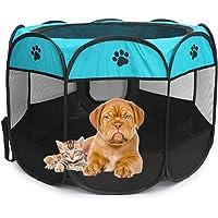 HANNIER Pet Dog Playpen Portable Foldable Kennel Puppy Cat Rabbit Guinea Pig 600D Oxford 8 Panels Tents