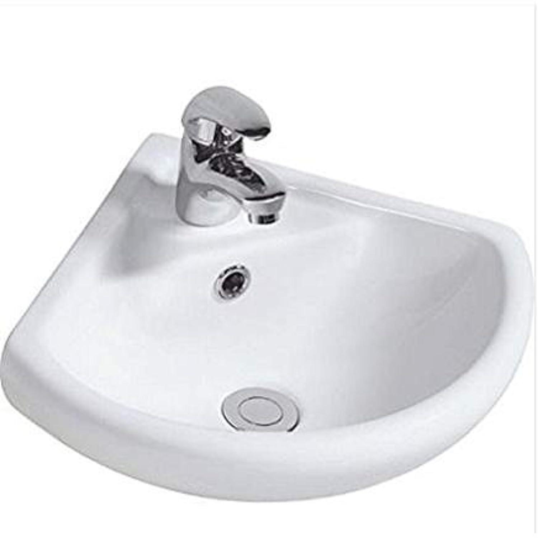 appesa alla parete ad angolo in ceramica lavandino lavabo 1TAP foro 46cmx24cm Pentamix