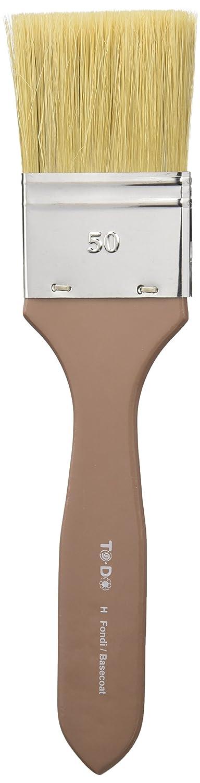 Fleur Paint 90971 - Pincel para fondos (con cerdas blancas, Nº 50) color marrón Nº 50) color marrón Expresiones Decorativas Nipa