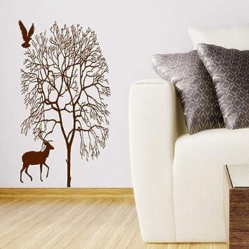 Yuanminglu Baum Silhouette Mit Vogel Natur Kunst Schone Wohnzimmer