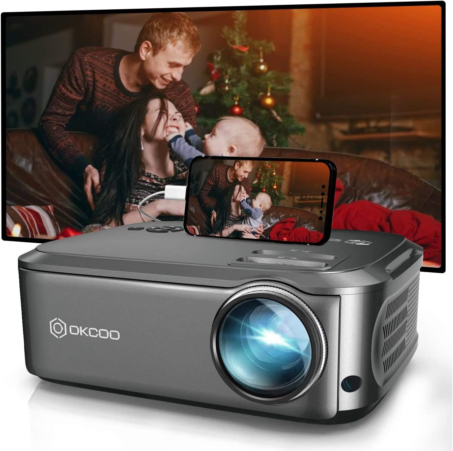 50% Off Coupon – 1080P Projector for Movies Compatible With Smartphones and Other Devices