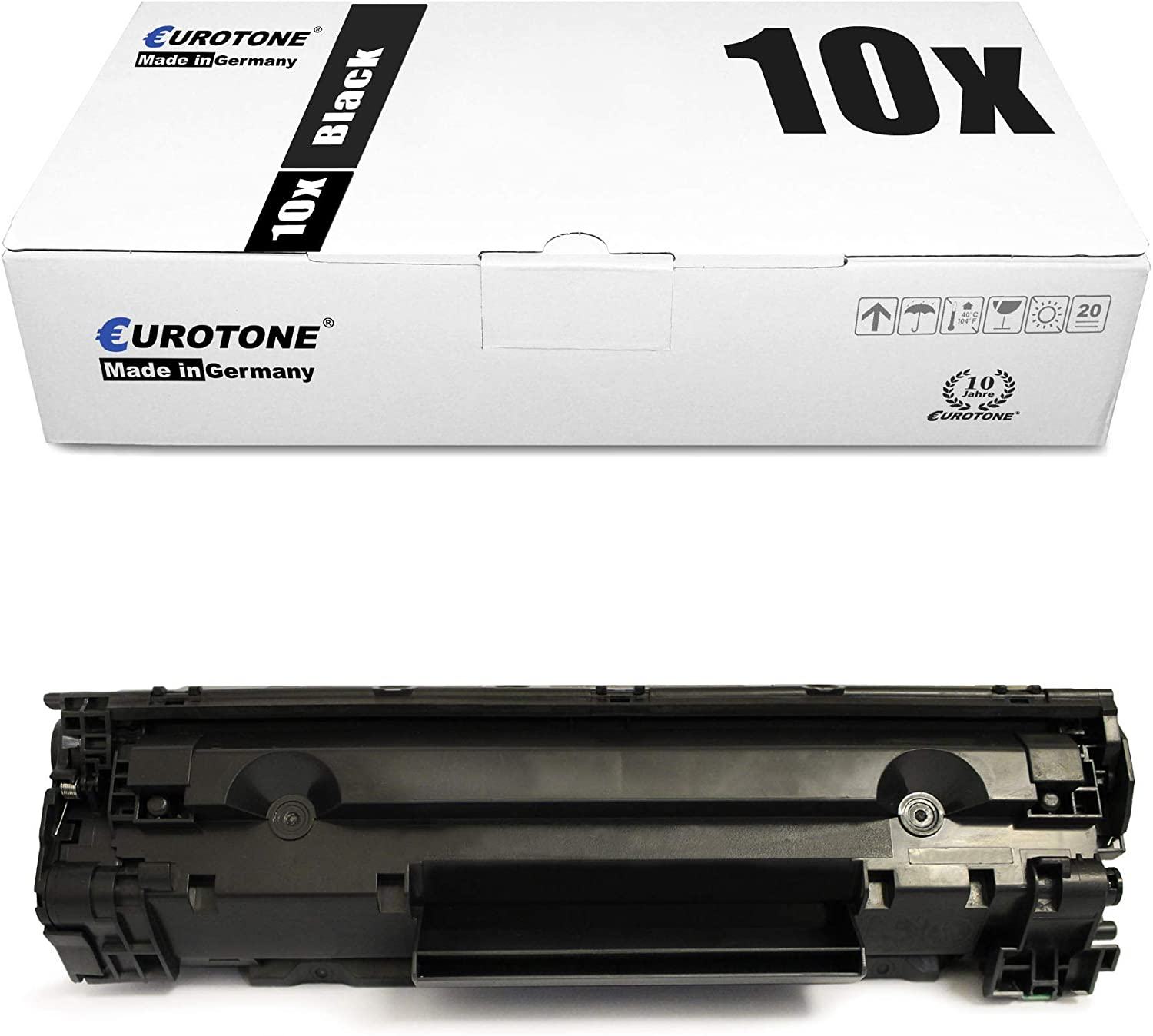 10x Eurotone Remanufactured Toner for HP Laserjet Pro MFP M 201 225 dw dn n Replaces CF283X 83X