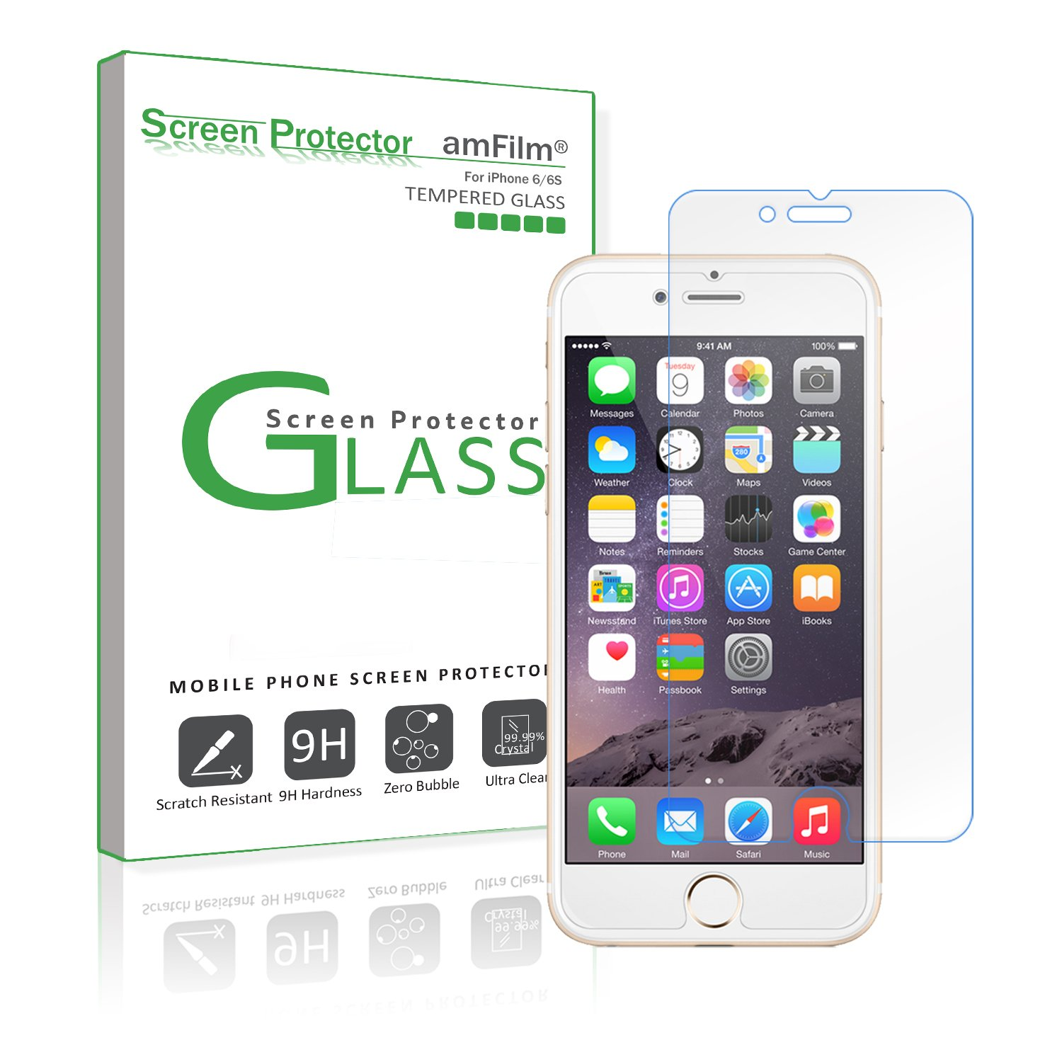 Amazon.com: iPhone 6S Screen Protector Glass, amFilm [3D Touch ...